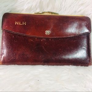 Bosca vintage leather hand stained wallet